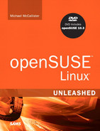 Book cover for openSUSE Linux Unleashed