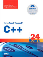Book cover for Sams Teach Yourself C++ in 24 Hours, fifth edition