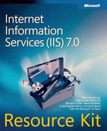 Cover of Internet Information Services (IIS) 7.0 Resource Kit