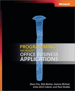 Programming Microsoft® Office Business Applications