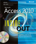 Cover of Microsoft® Access® 2010 Inside Out