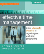 Cover of Effective Time Management: Using Microsoft® Outlook® to Organize Your Work and Personal Life