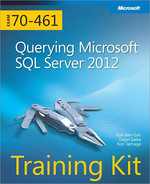 Book cover for Training Kit (Exam 70-461): Querying Microsoft® SQL Server® 2012
