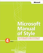 Cover of Microsoft® Manual of Style, Fourth Edition