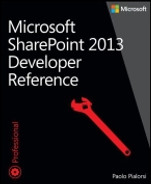 Cover of Microsoft SharePoint 2013: Developer Reference