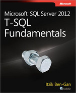Cover of Microsoft® SQL Server® 2012 T-SQL Fundamentals