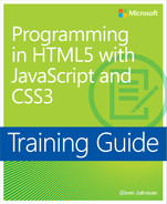 Cover of Programming in HTML5 with JavaScript and CSS3: Training Guide