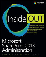 Cover of Microsoft SharePoint 2013 Administration Inside Out