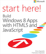 Cover of Start Here! Build Windows 8 Apps with HTML5 and JavaScript