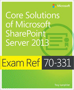 Cover of Exam Ref 70-331: Core Solutions of Microsoft SharePoint Server 2013