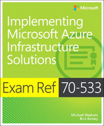 Cover of Exam Ref 70-533 Implementing Microsoft Azure Infrastructure Solutions
