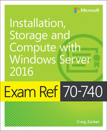 Cover of Exam Ref 70-740 Installation, Storage and Compute with Windows Server 2016