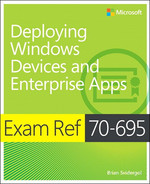 Cover of Exam Ref 70-695 Deploying Windows Devices and Enterprise Apps (MCSE)