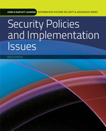 Cover of Security Policies and Implementation Issues