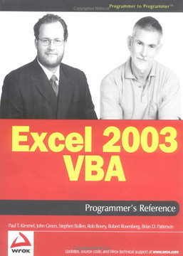 Excel 2003 VBA Programmer's Reference