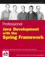 Cover of Professional Java™ Development with the Spring Framework