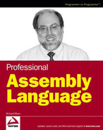 Cover of Professional Assembly Language