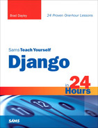 Cover of Sams Teach Yourself Django in 24 Hours