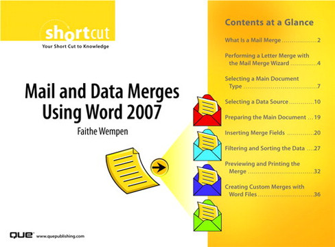 Mail and Data Merges Using Word 2007
