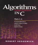 Cover of Algorithms in C, Parts 1-4: Fundamentals, Data Structures, Sorting, Searching, Third Edition