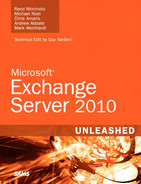 Cover of Microsoft® Exchange Server 2010 Unleashed