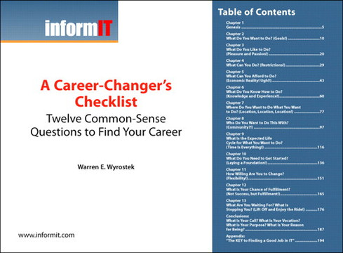 A Career-Changer's Checklist: Twelve Common-Sense Questions to Find Your Career