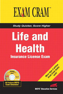 Cover of Life and Health Insurance License Exam Cram™