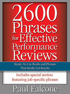 Cover of 2600 Phrases for Effective Performance Reviews