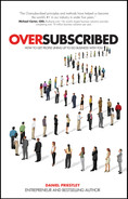 Cover of Oversubscribed: How to Get People Lining Up to Do Business with You