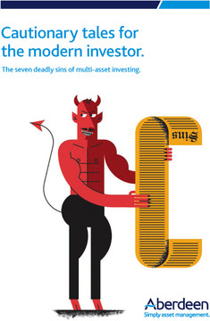 Cautionary tales for the modern investor: The seven deadly sins of multi-asset investing