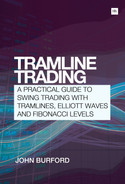 Book cover for Tramline Trading: A practical guide to swing trading with tramlines, Elliott Waves and Fibonacci levels