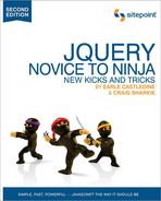 Cover image for jQuery: Novice to Ninja, 2nd Edition