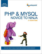 Cover of PHP & MySQL: Novice to Ninja, 5th Edition