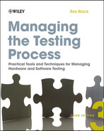 Cover of Managing the Testing Process: Practical Tools and Techniques for Managing Hardware and Software Testing