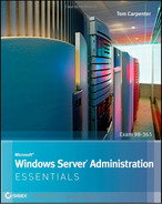 Cover of Microsoft® Windows Server® Administration: Essentials