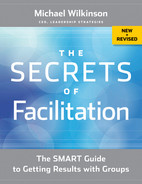 Cover of The Secrets of Facilitation: The SMART Guide to Getting Results with Groups, New and Revised