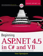 Book cover for Beginning ASP.NET 4.5: in C# and VB