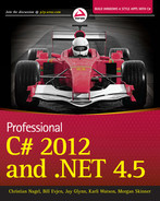 Cover of Professional C# 2012 and .NET 4.5
