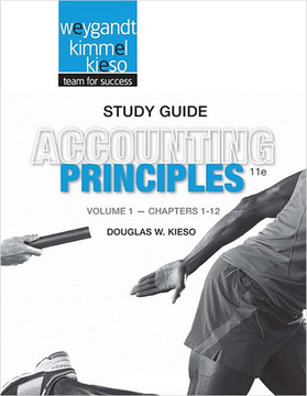 Accounting Principles, Study Guide Volume I, 11th Edition