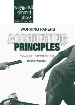 Working Papers Volume II to accompany Accounting Principles, 11th Edition