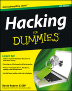 Book cover for Hacking For Dummies, 4th Edition