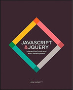 Cover of JavaScript and JQuery: Interactive Front-End Web Development