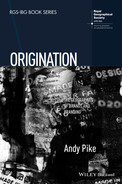 Cover of Origination: The Geographies of Brands and Branding