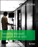 Cover of Mastering Microsoft Exchange Server 2013