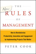 Cover of The New Rules of Management: How to Revolutionise Productivity, Innovation and Engagement by Implementing Projects That Matter