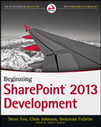 Cover of Beginning SharePoint 2013 Development