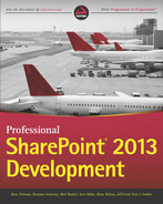 Cover of Professional SharePoint 2013 Development