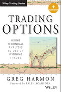 Cover of Trading Options: Using Technical Analysis to Design Winning Trades, + Website