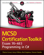 Cover of MCSD Certification Toolkit (Exam 70-483): Programming in C#