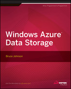 Cover of Windows Azure Data Storage